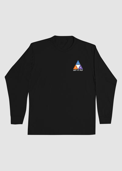 Colored Triangle Long Sleeve Tee - Front