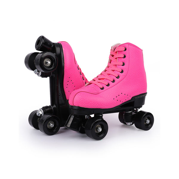 Rainbow style-Rose pink roller skates