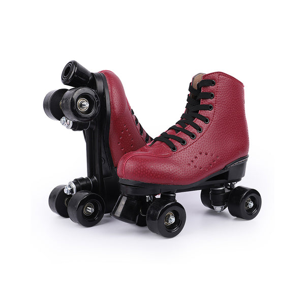 Rainbow style-Apple red roller skates