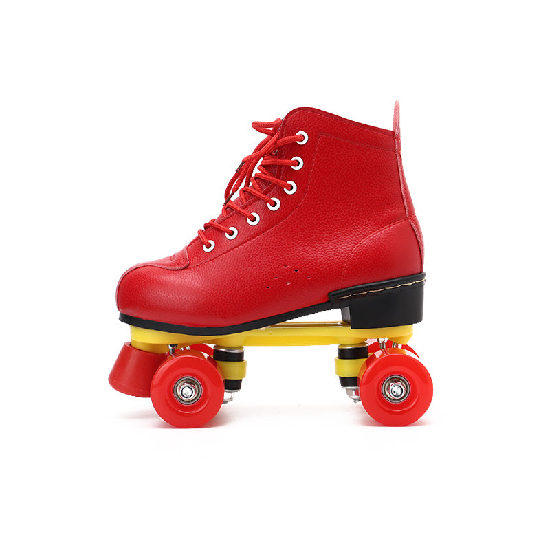 Rainbow style-Strawberry red roller skates