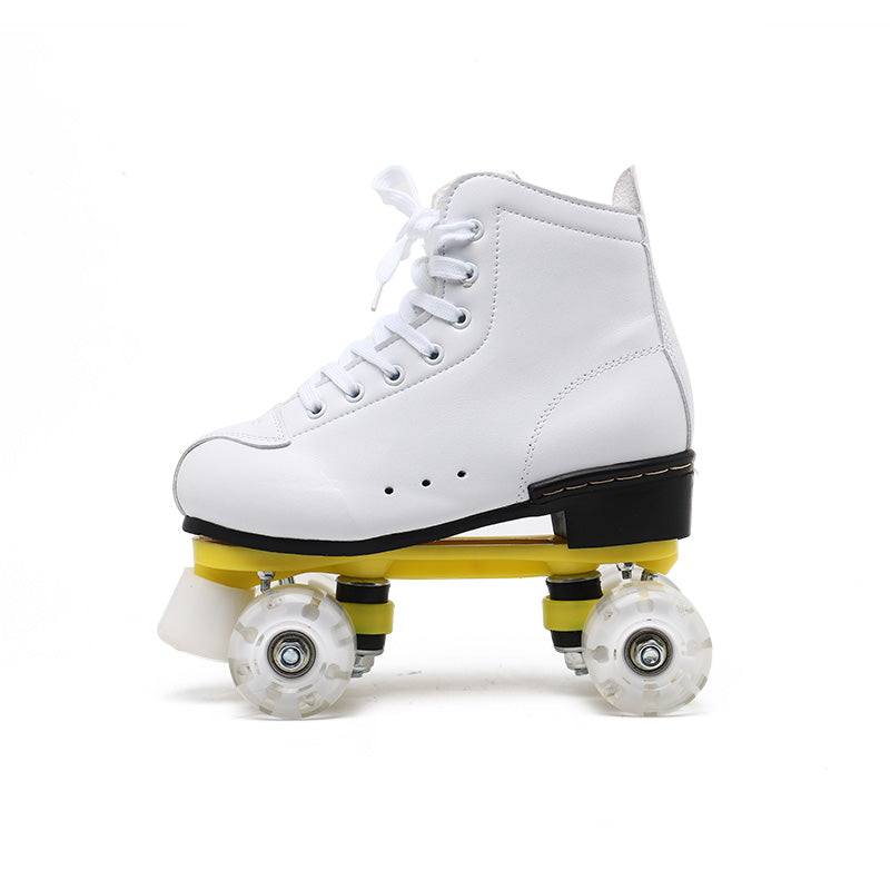 Rainbow style-Cloud white roller skates