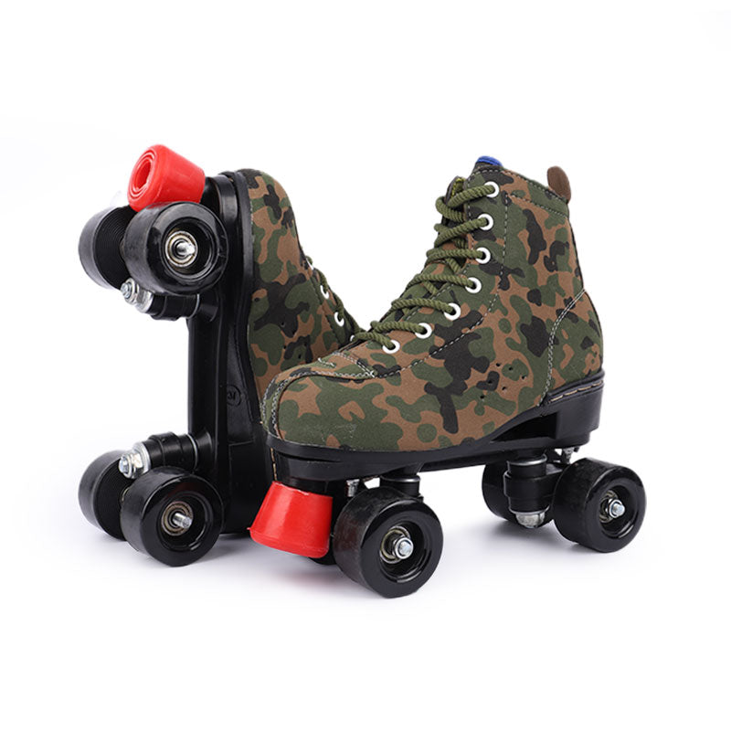 Rainbow style-Forest Camouflage roller skates
