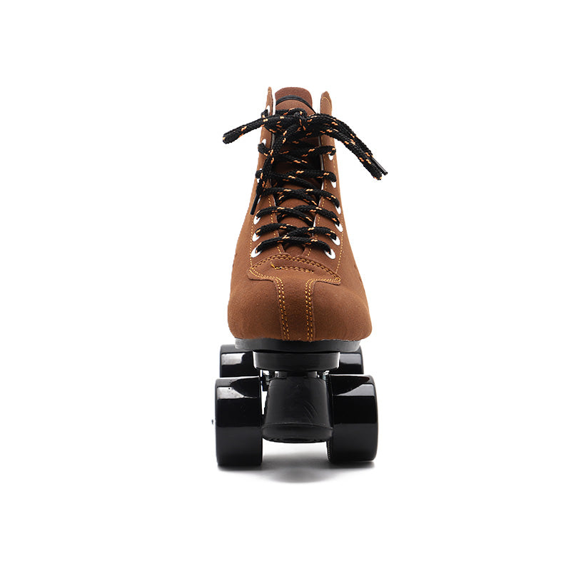 Rainbow style-Earth brown roller skates