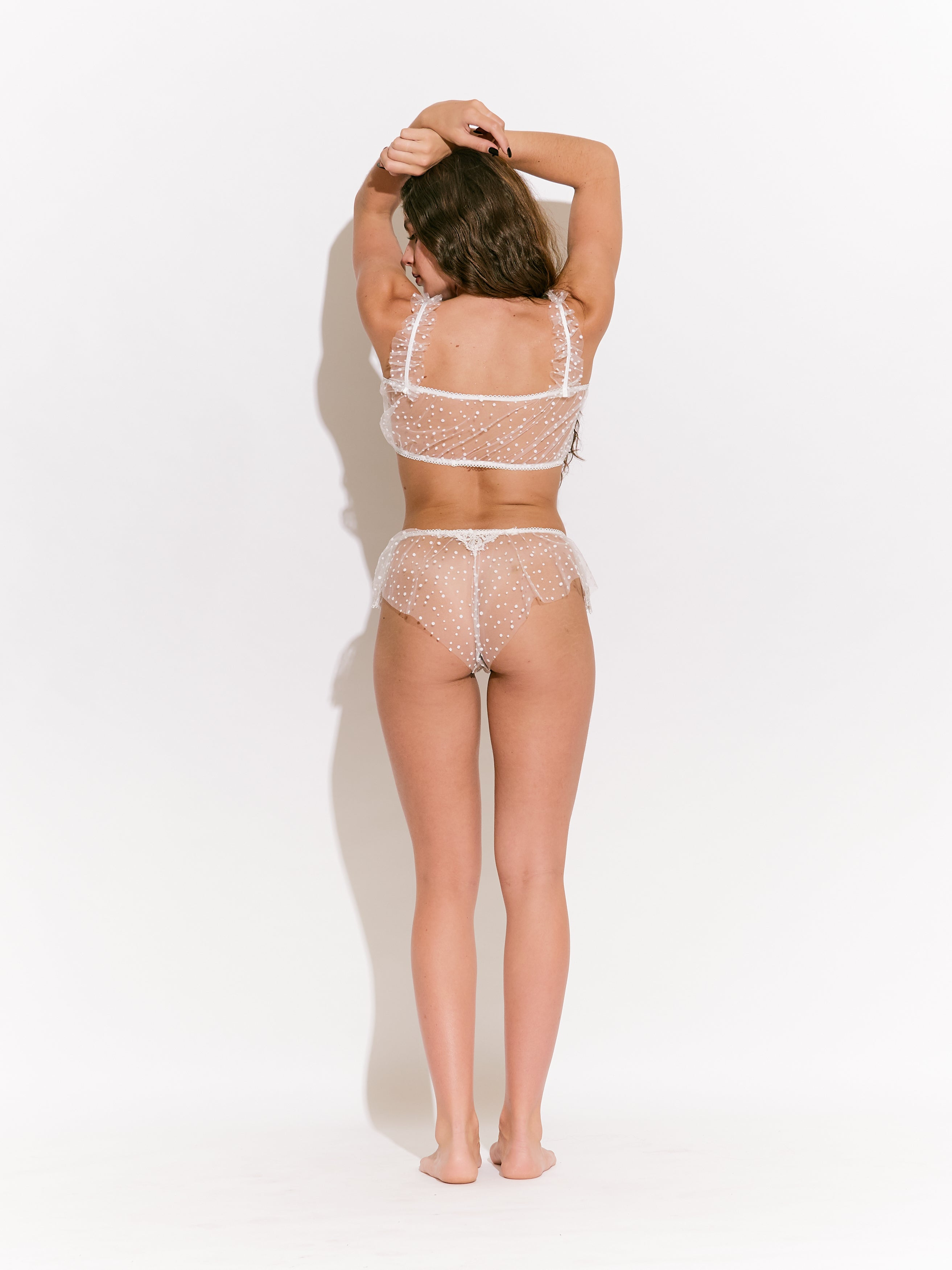 Rey Dot Tulle French Knicker
