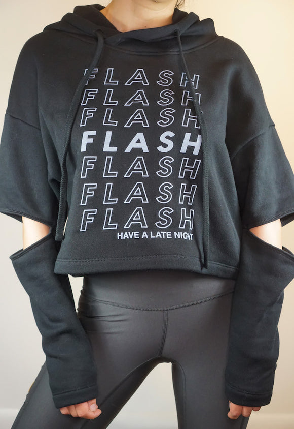 1901 Black - Flash Bags womens hoody with elbow slits