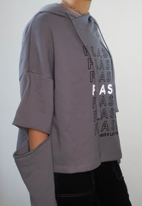 1902 Light Grey - Flash Bags womens hoody with elbow slits