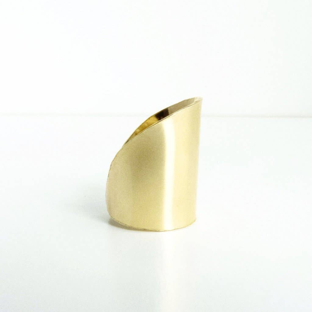 Kaira Gold Brass Statement Ring