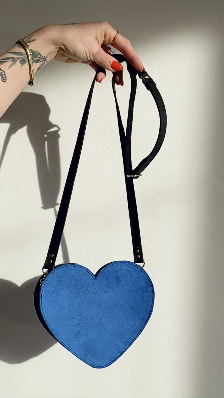 Blue Suede Heartbreaker Purse