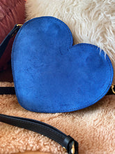 Load image into Gallery viewer, Blue Suede Heartbreaker Purse