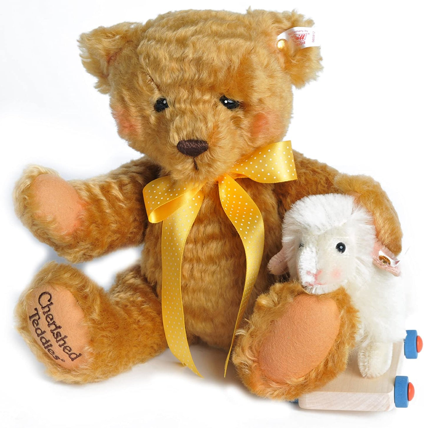 STEIFF CHERISH TEDDY WITH LAMB.