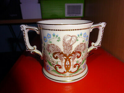 Charles & Camilla Wedding 9th April Royal Crown Derby China Loving Cup