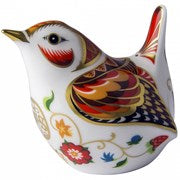 ROYAL CROWN  DERBY  WILLIAM  SHAKESPEARE WREN PAPERWEIGHT