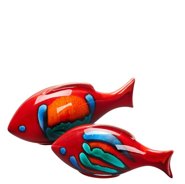 VOLCANO PAIR OF FISH POOLE POTTERY