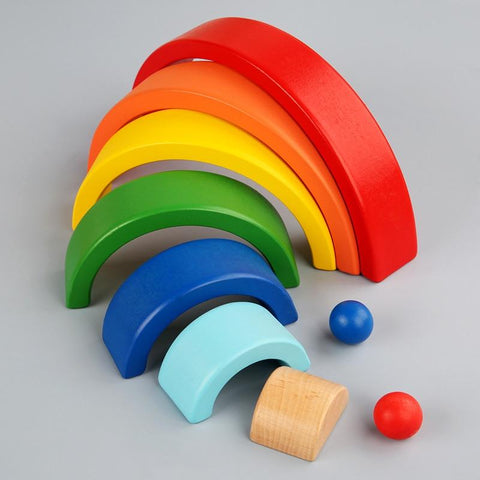 RainbowBlocks - Creative Rainbow Stacker Wooden Toy