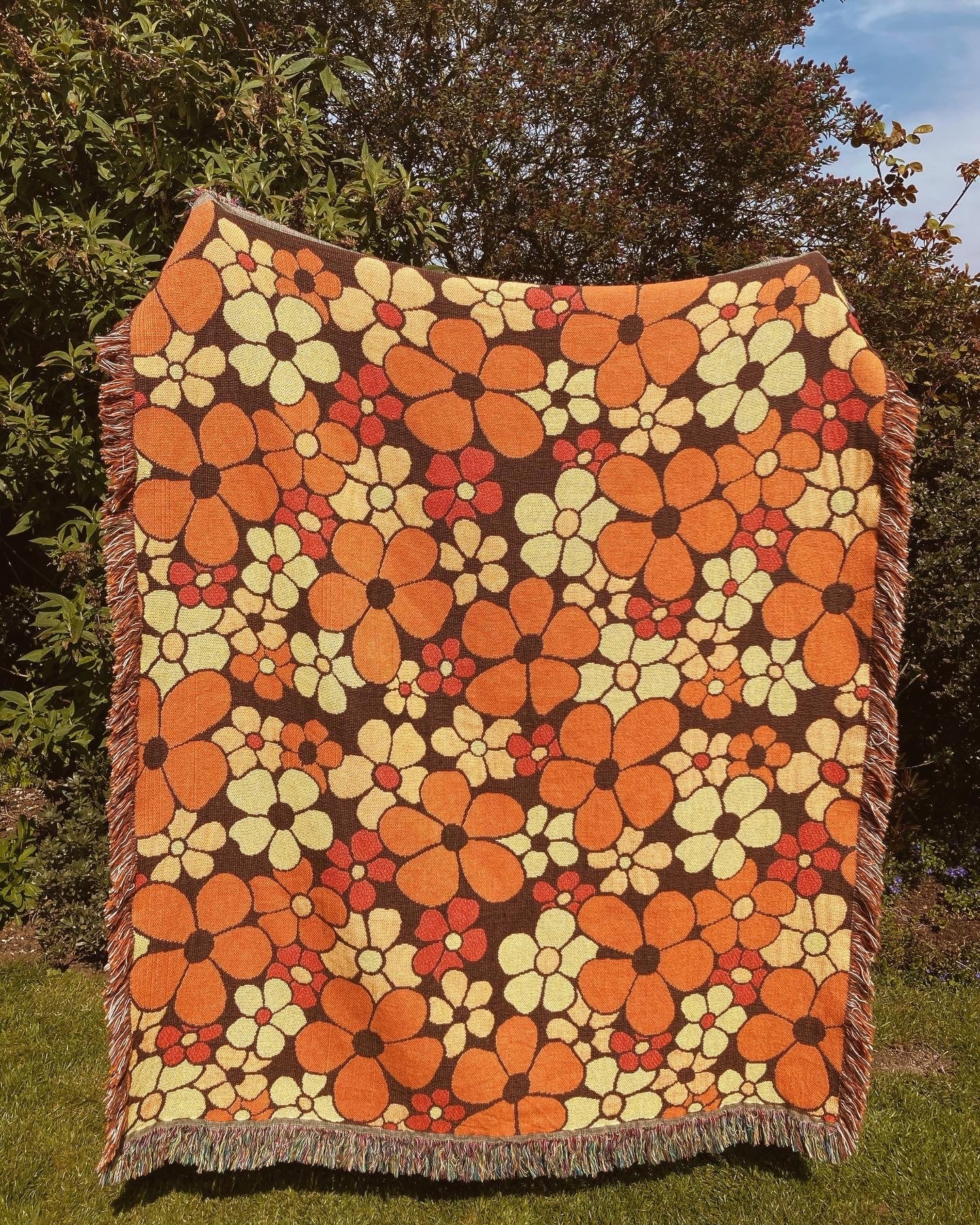 PRE-ORDER California Poppy - Woven Throw