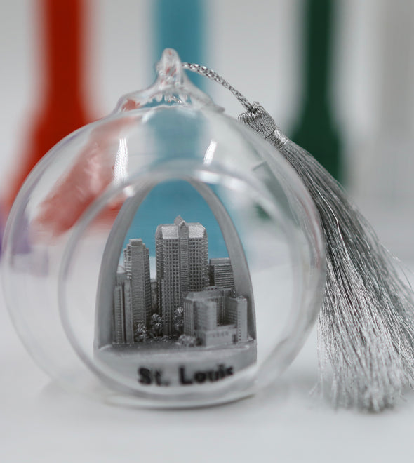 65mm Silver St. Louis Skyline Terrarium Ornament