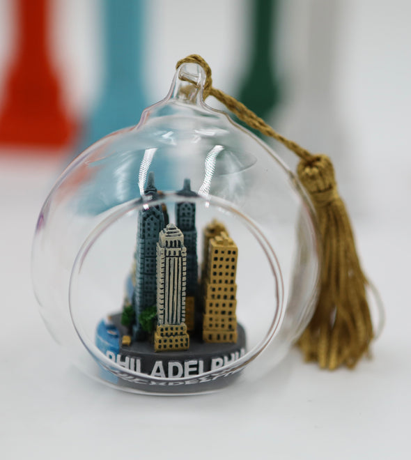 65mm Philadelphia Skyline Terrarium Ornament