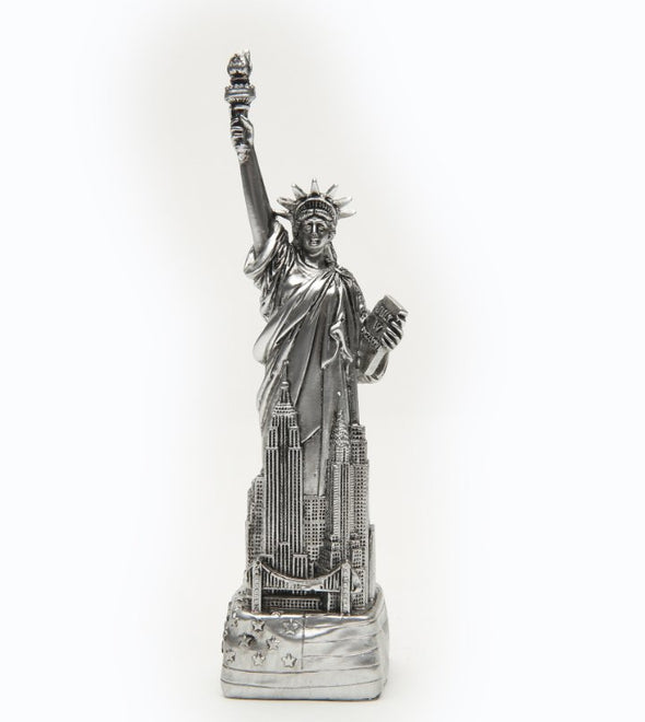 6 Inch Statue of Liberty with Flag Base