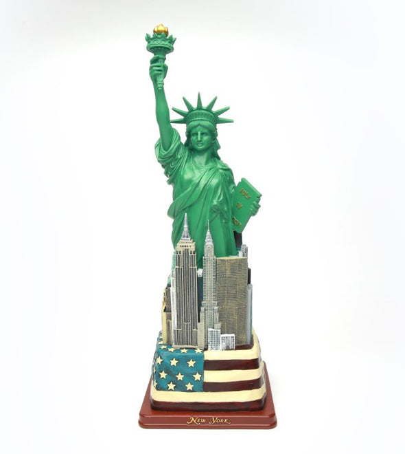 Extra Large Statue of Liberty with Flag Base