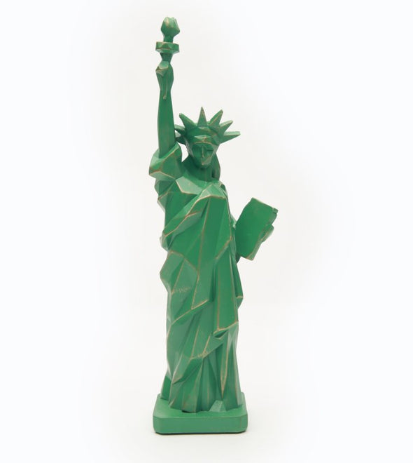 Green Geometric Statue of Liberty 10 Inch