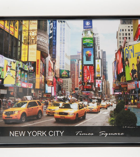 Times Square Photo in Black Frame