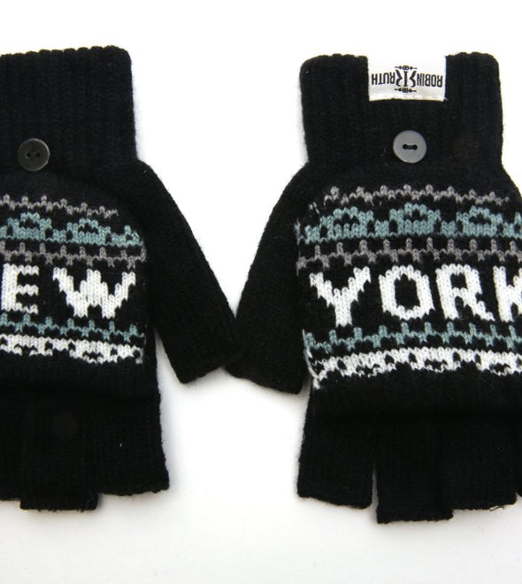 New York City Black Winter Gloves
