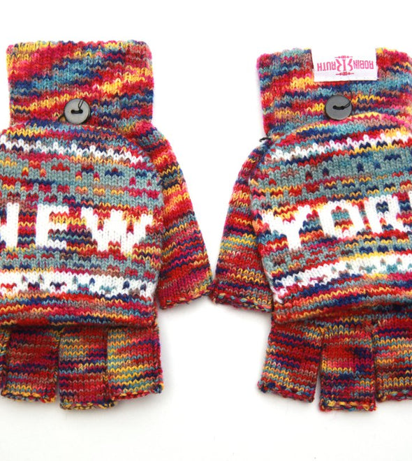 Multicolor New York Gloves