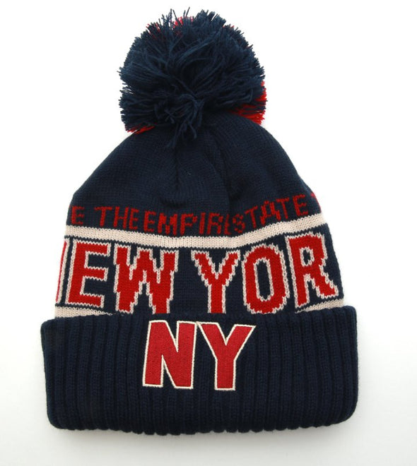New York Empire State Navy Winter Hat