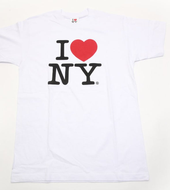 I Love New York White T-Shirt Adult Size