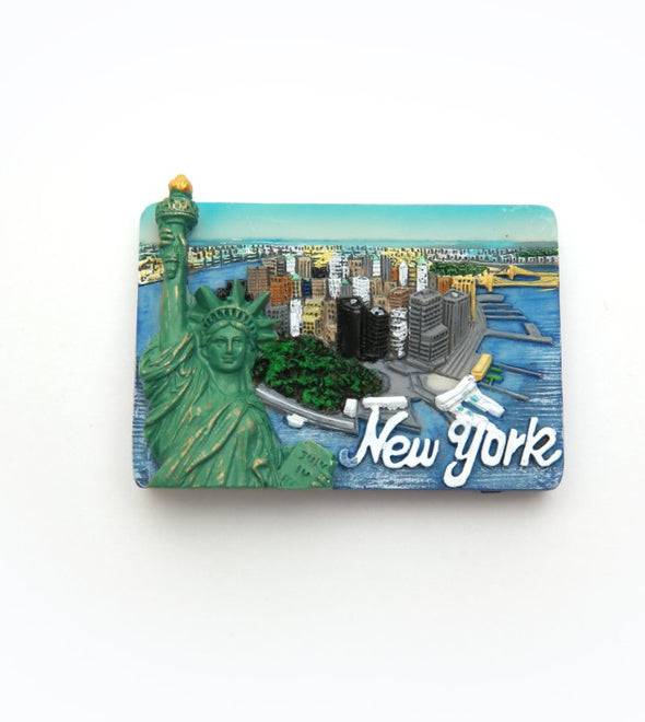 NYC Souvenir Magnet from the Sky