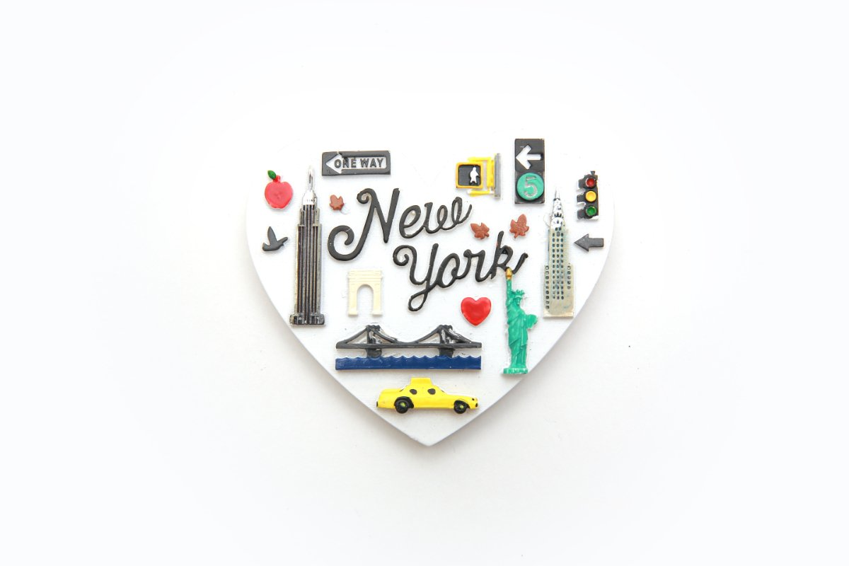 NYC Souvenir Magnet with Icons