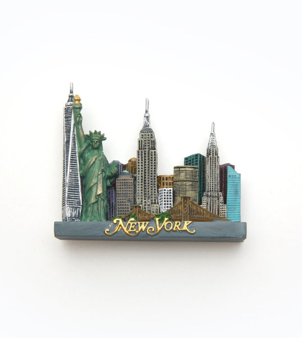 New York City Square Skyline Magnet