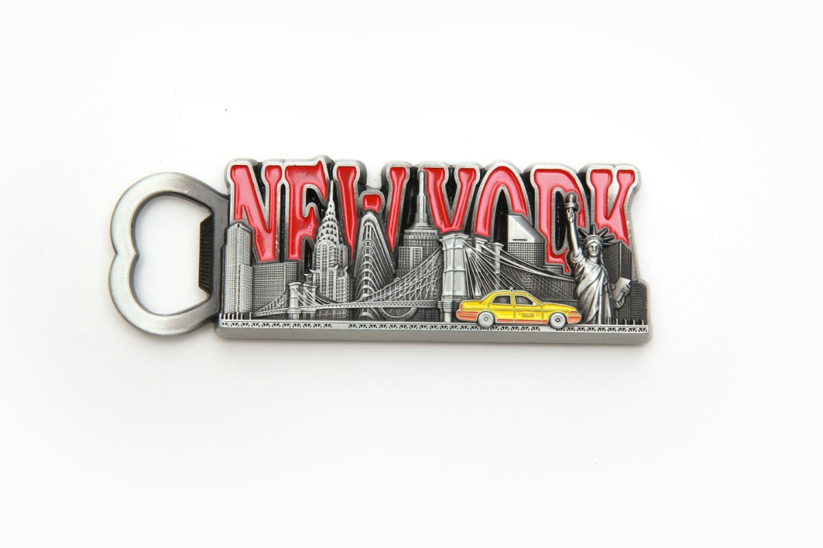 Metal New York Skyline Bottle Opener