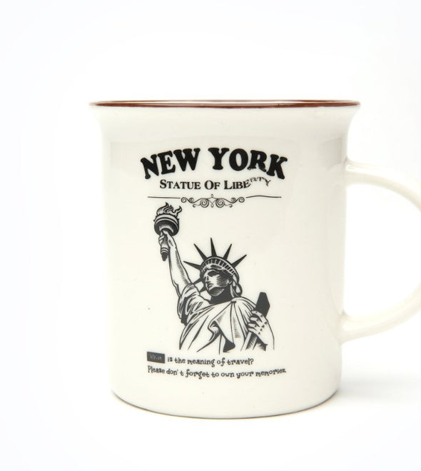 White Campfire Mug with Statue of Liberty in Gift Box