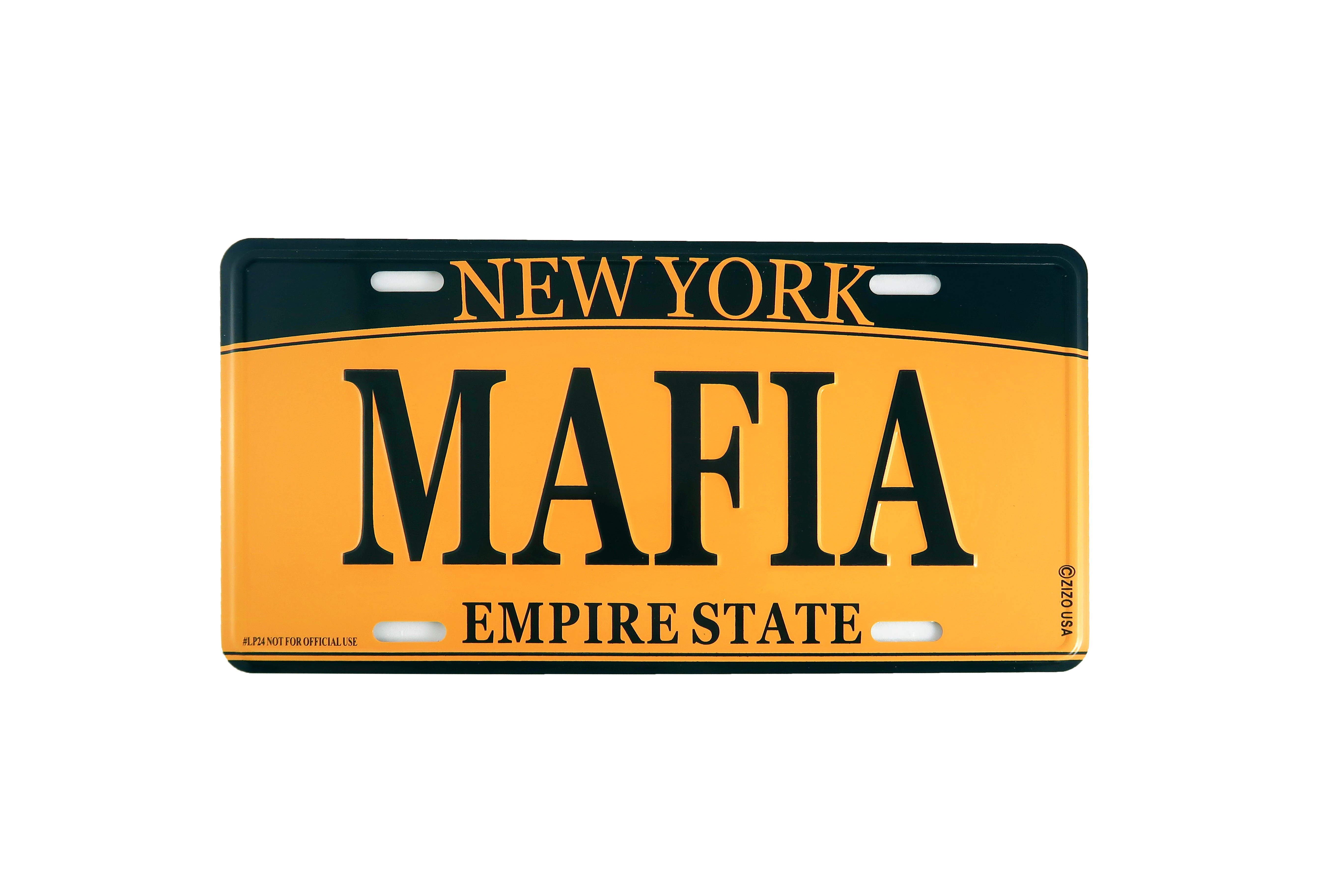 Metal Mafia Replica License Plate