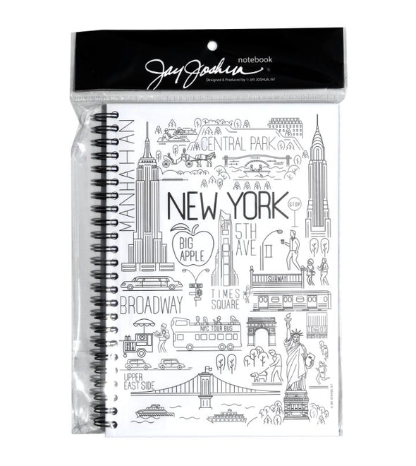 Large Spiral Notebook with New York Icons
