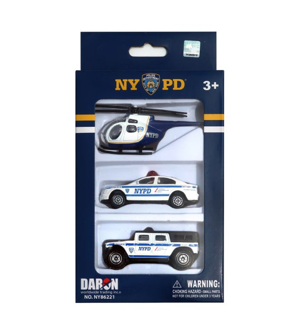 NYPD Toy Car 3pc Gift Set