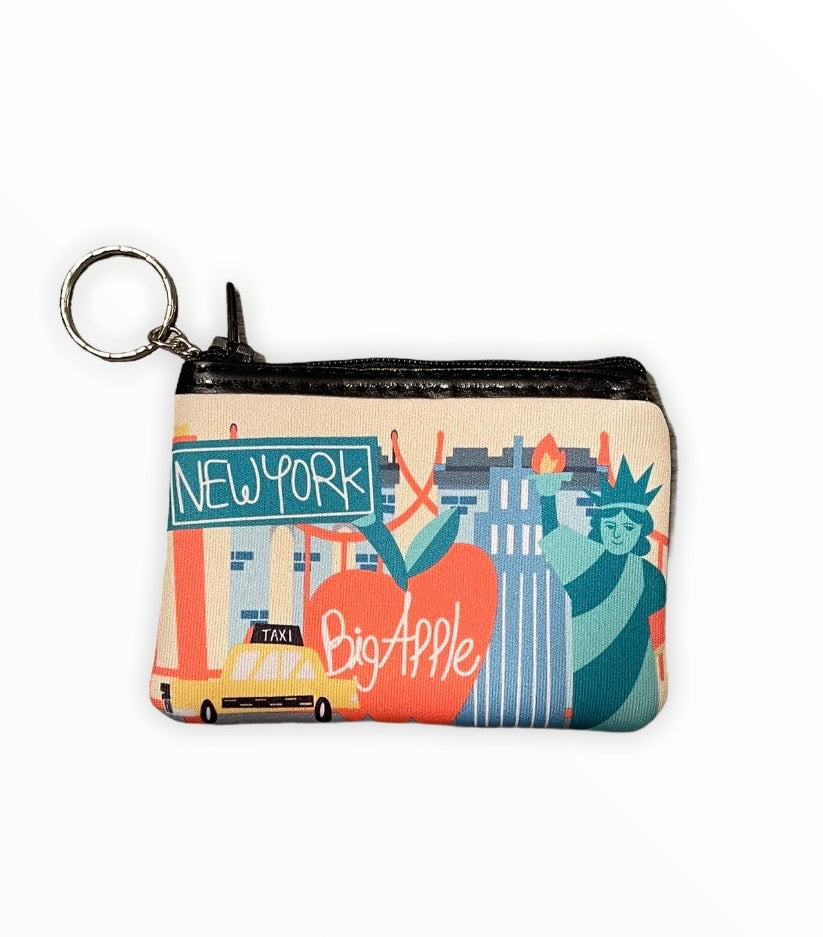 Neoprene New York City Icons Coin Purse