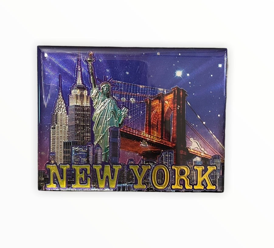 New York at Night Foil Magnet