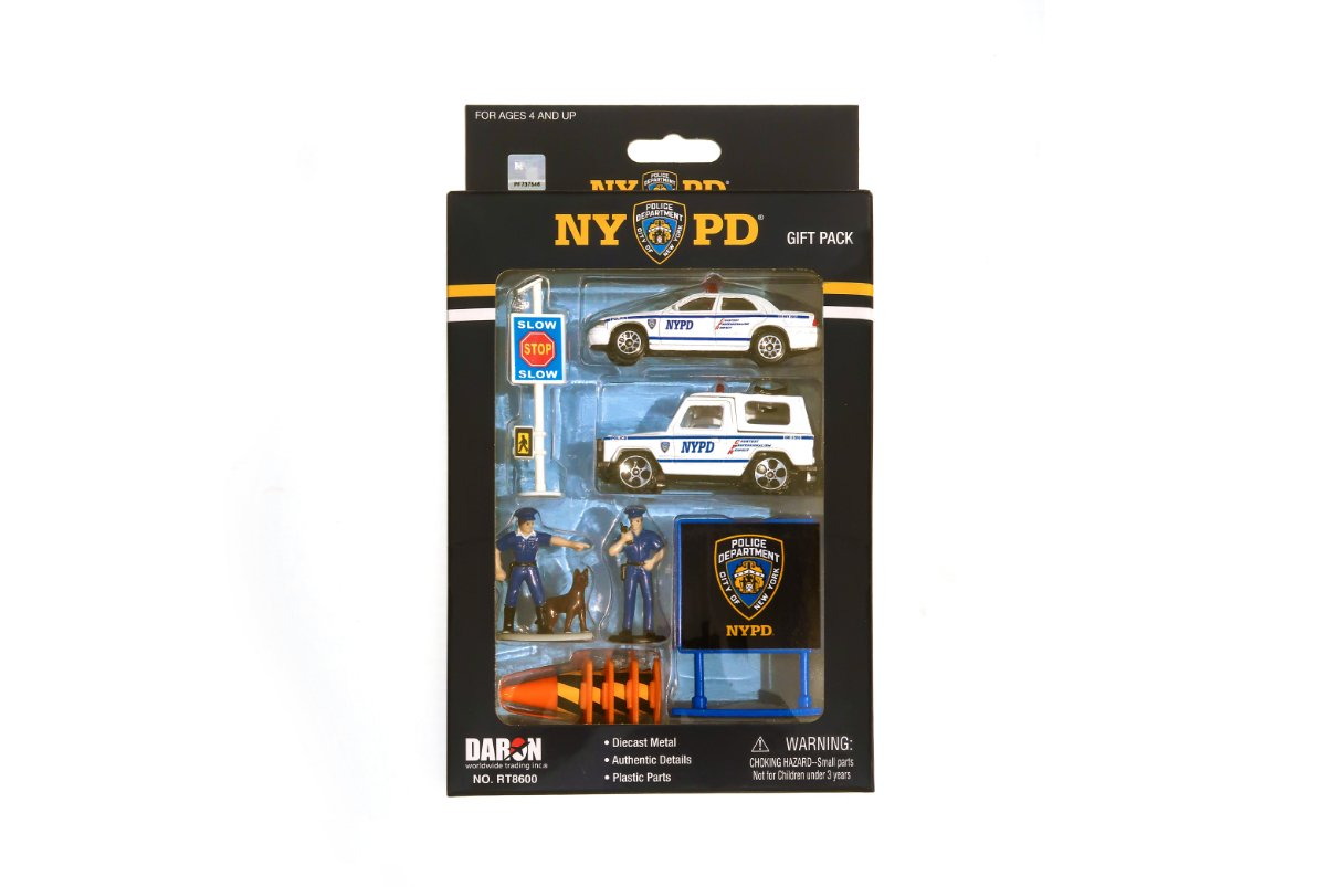 10pc NYPD Toy Car Gift Set