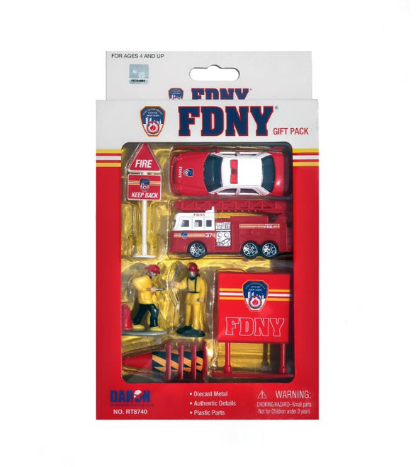 10pc FDNY Gift Set Toy Cars