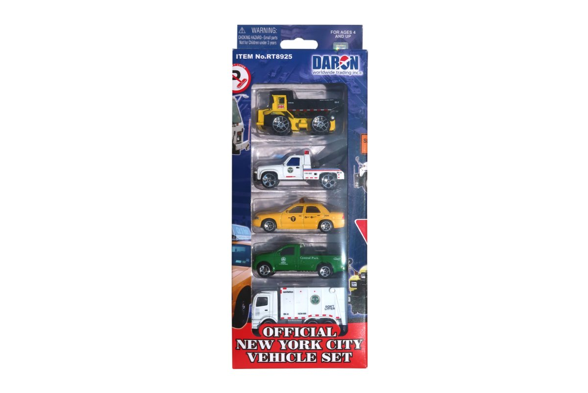 Official New York City Vehicle Set 5pc