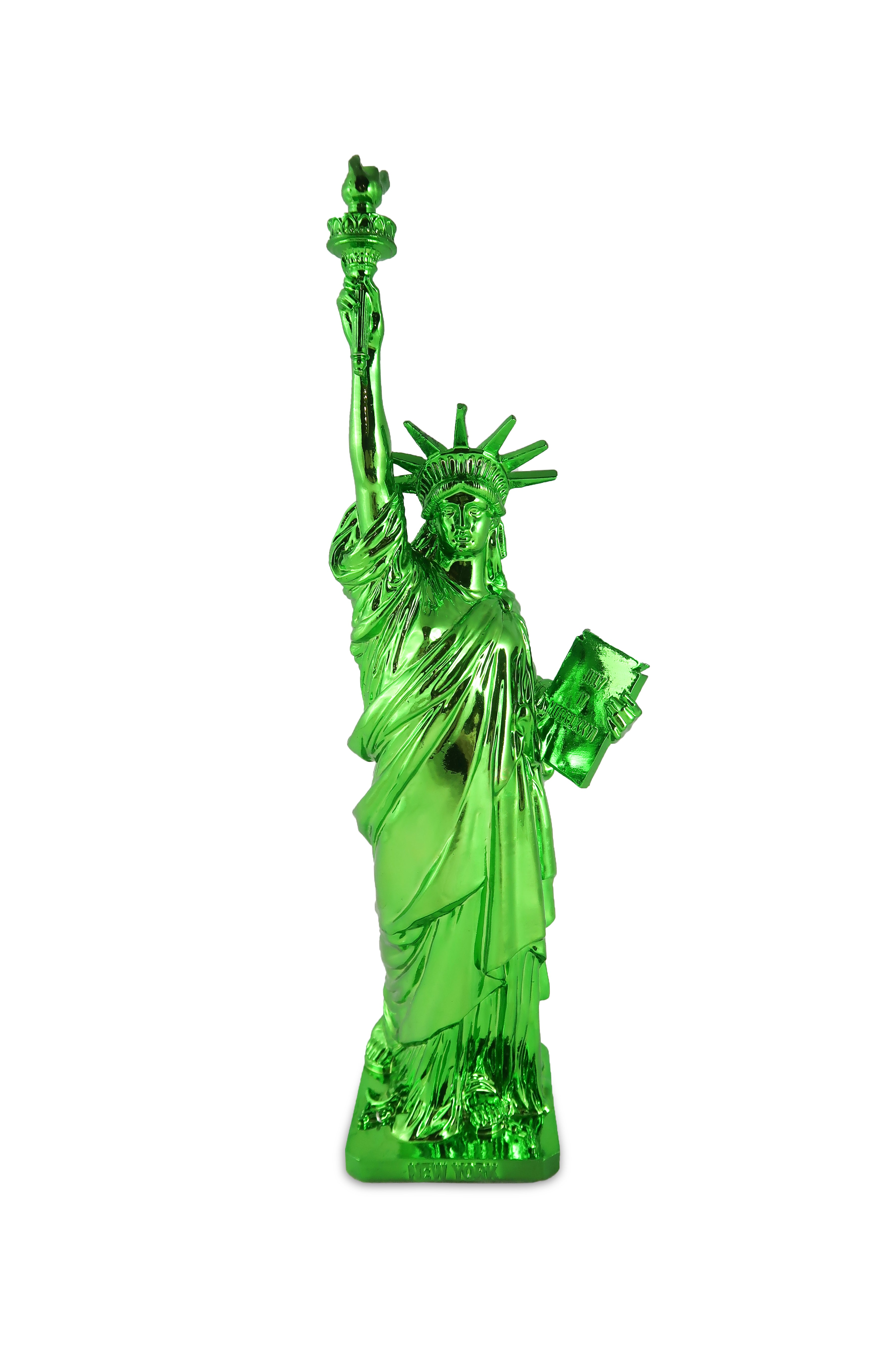 "Electroplated Green 12"" Statue of Liberty"