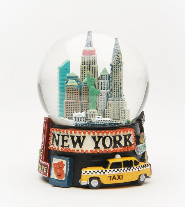 Broadway New York 65mm Snow Globe