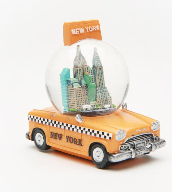 New York Taxi Souvenir Snow Globe 45mm