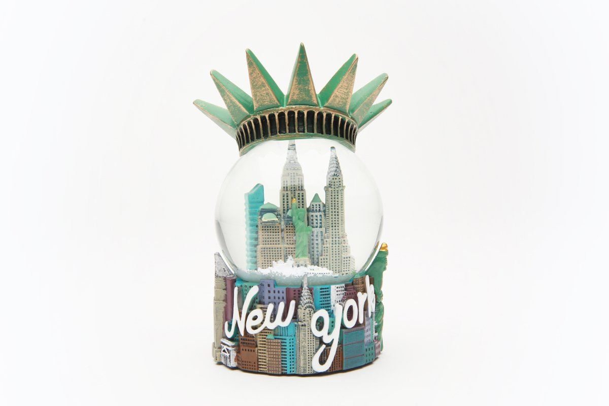 65mm Statue of Liberty Crown Souvenir Snow Globe