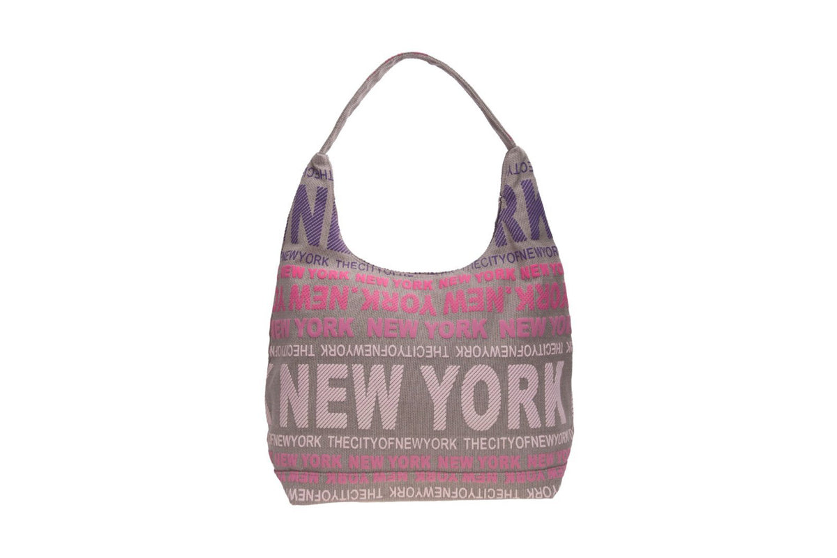 City of New York Pink Multi Color Bag