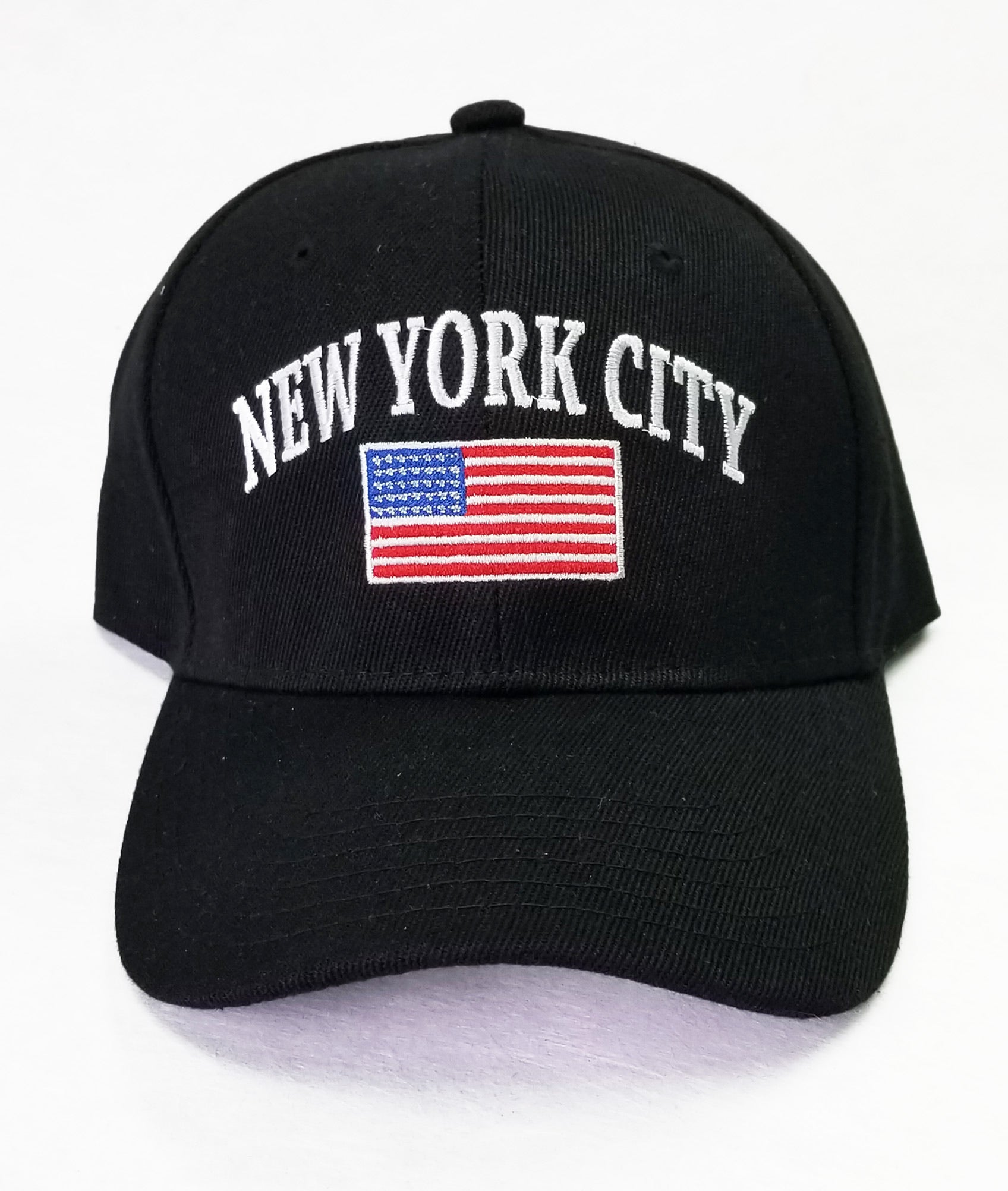 NYC Embroidered Baseball Hat With Flag