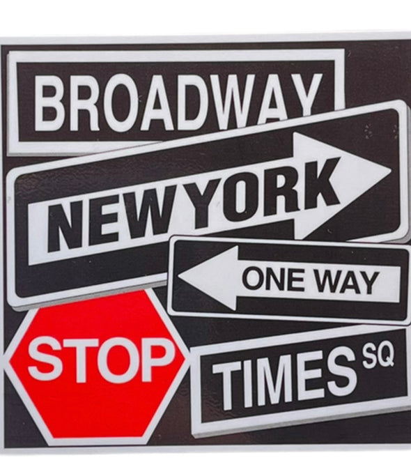 New York Street Signs Sticker