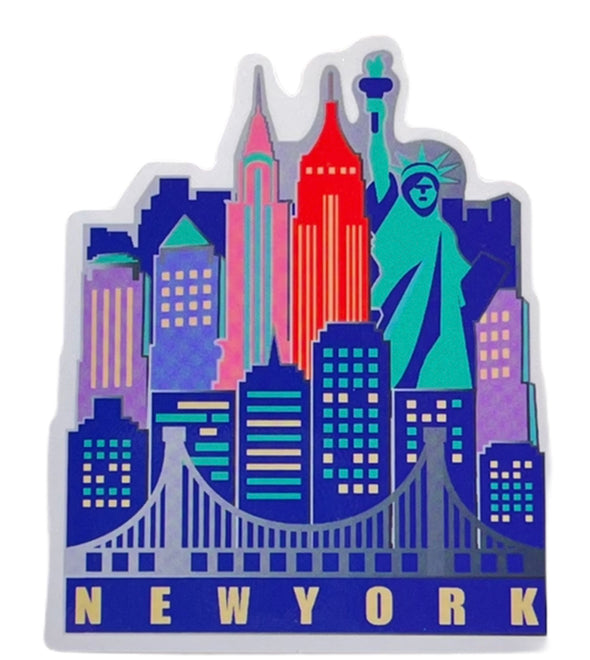Colorful NYC Skyline Sticker